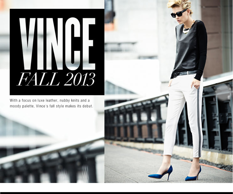 A favorite of celebrities, Vince apparel is a collection of contemporary fashion clothing for women. Fabulous #knits, #silks from tops, pants to jackets